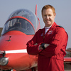Red Arrows Leader Jets in to Celebrate Students' Successes