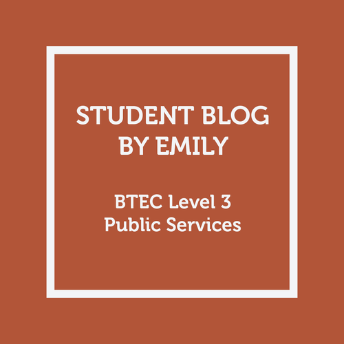 Student Blog - Emily - BTEC Level 3 in Public Services