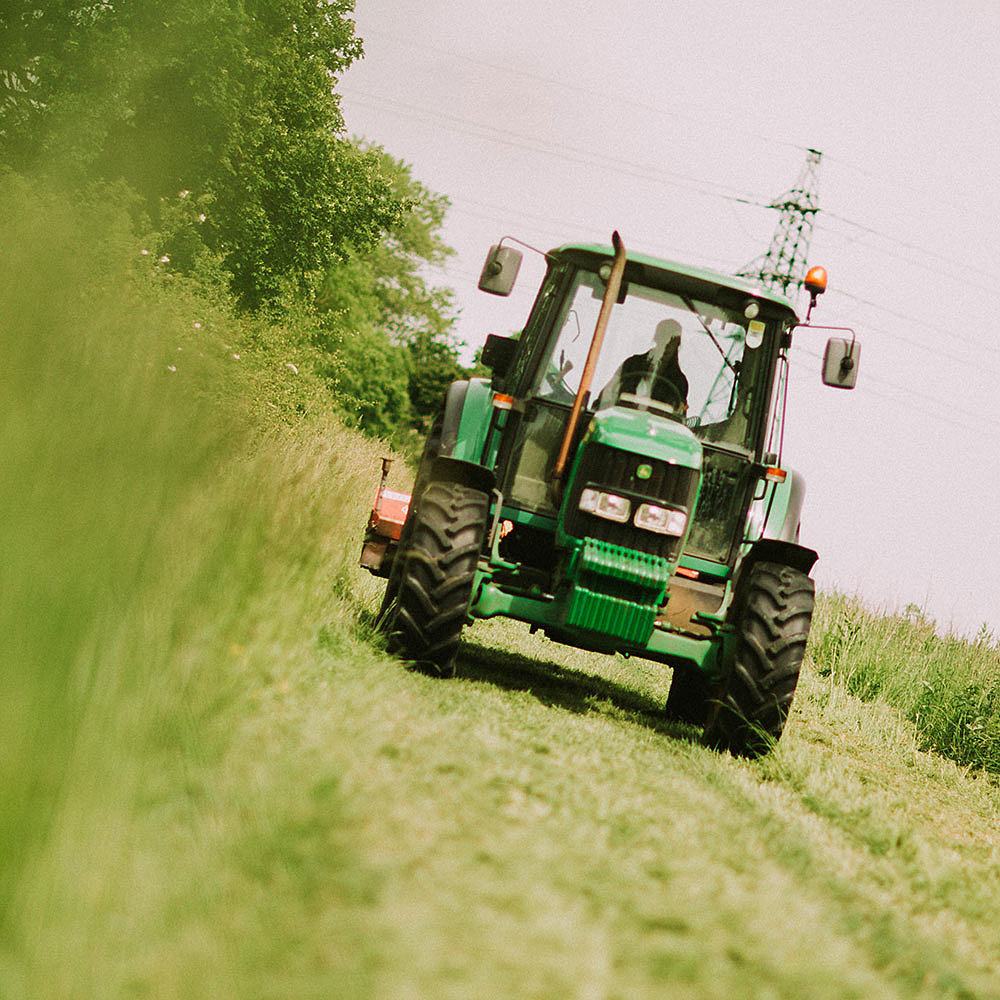 Student on agriculture course at Riseholme College driving tractor