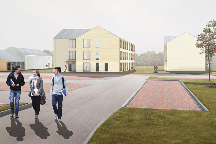 Artists impression of new Riseholme accommodation